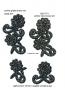 Fiori strass neri 2621-571